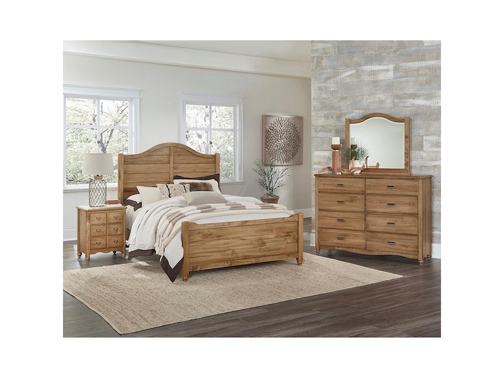 Vaughan Bassett American MapleQueen Shiplap Bed