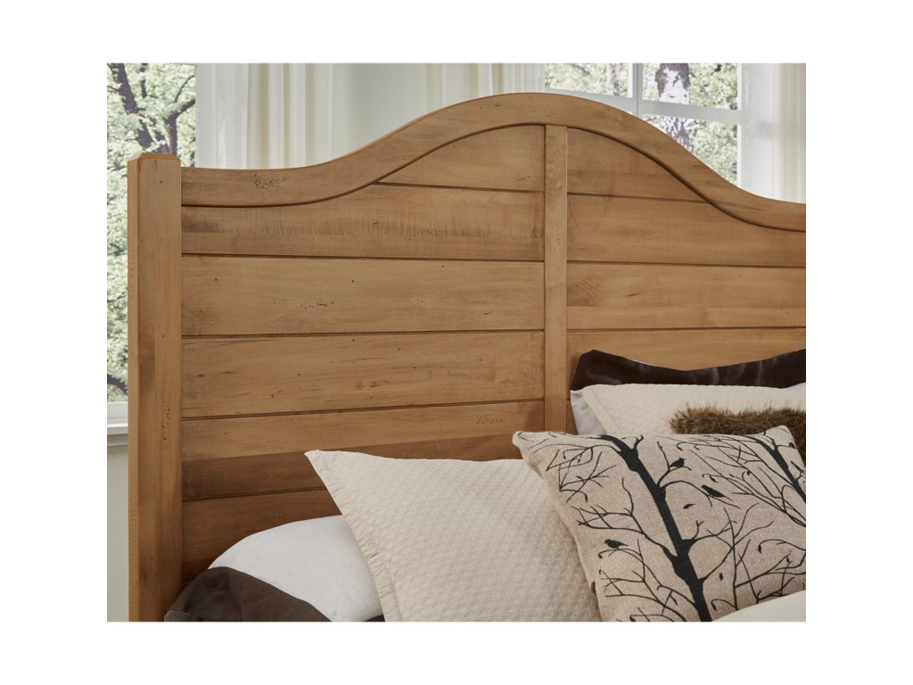 Vaughan Bassett Maple EscapeKing Shiplap Headboard