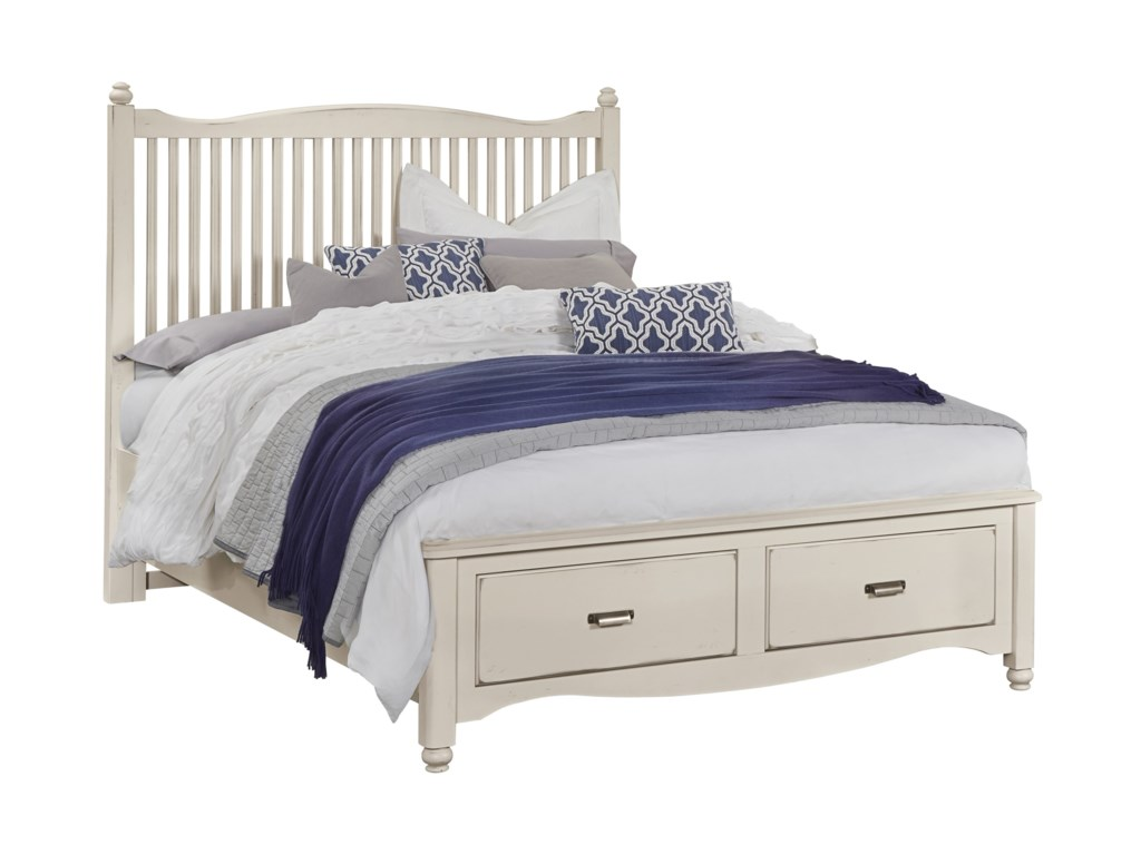 Vaughan Bassett American MapleQueen Slat Storage Bed
