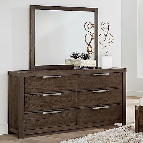 Vaughan Bassett American Modern Dresser & Landscape Mirror