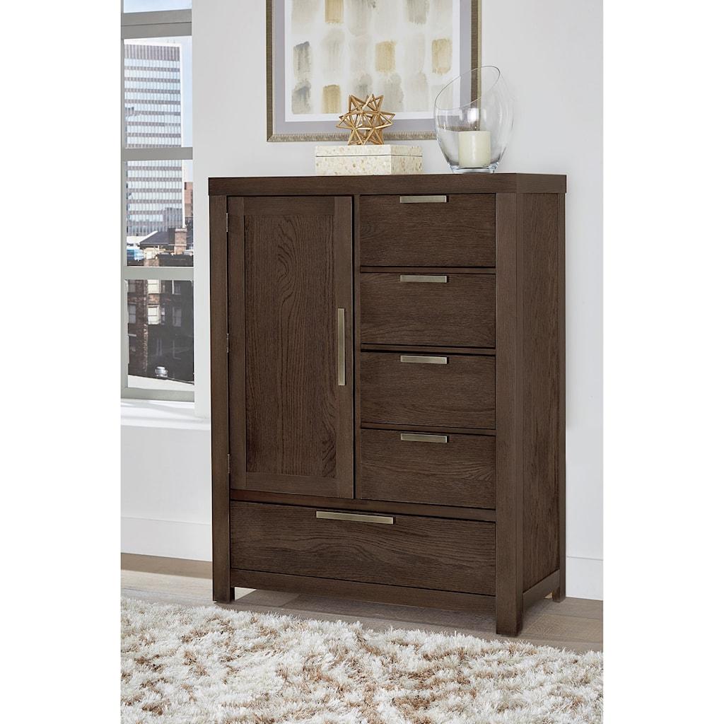 Vaughan bassett american modernarmoire 1 door 5 drawers