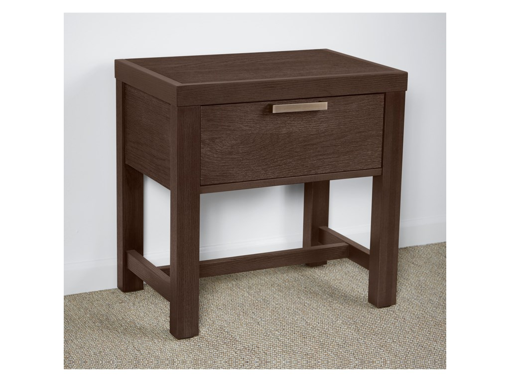 Vaughan Bassett American ModernBedside Table - 1 Drawer w/ USB Charging