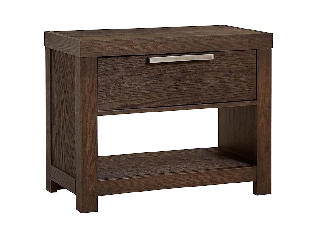 Vaughan Bassett American ModernNight Table, 1 Drawer/1 Shelf & USB Charging