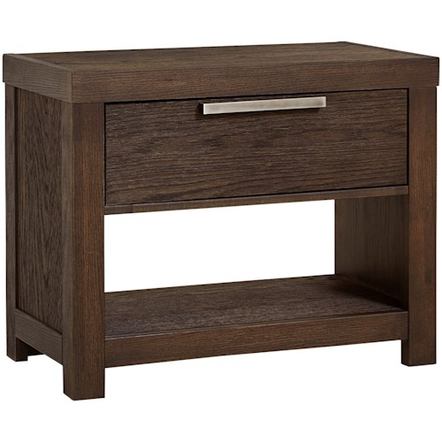 Vaughan Bassett American Modern Night Table - 1 Drawer/1 Shelf & USB Charging