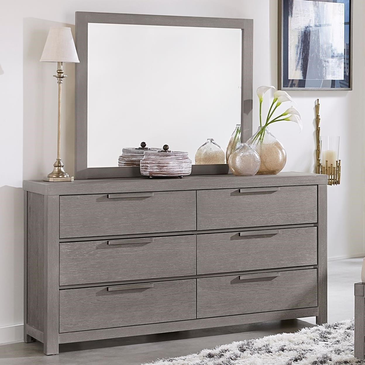 furniture dresser. vaughan bassett american moderndresser \u0026 landscape mirror furniture dresser