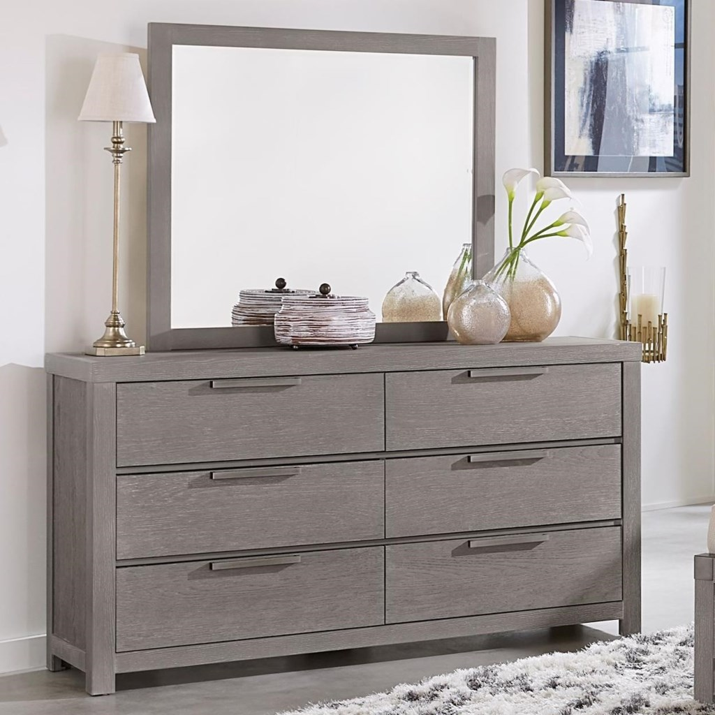 Vaughan bassett american modern dresser landscape mirror dunk bright furniture dresser mirror sets