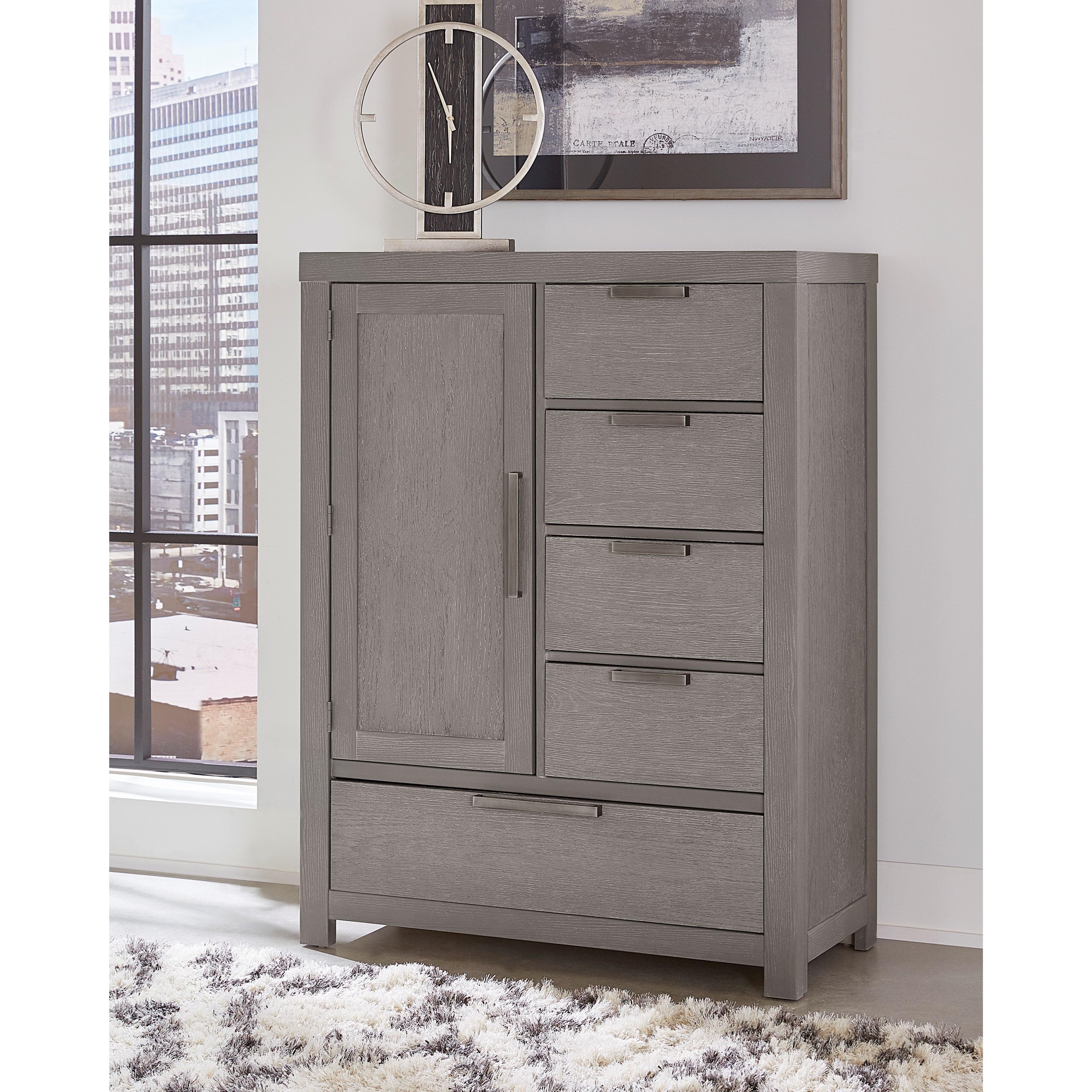 ... Vaughan Bassett American ModernArmoire   1 Door, 5 Drawers