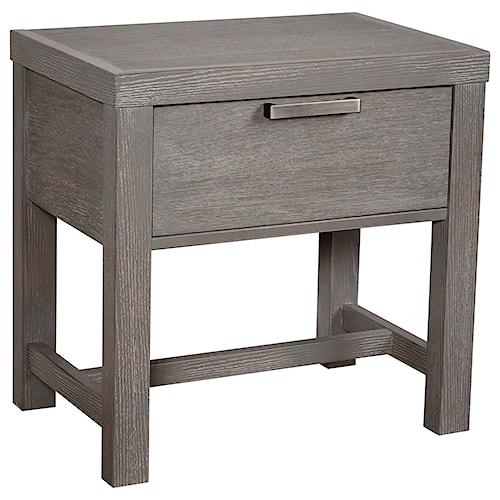 Vaughan Bassett American Modern Bedside Table - 1 Drawer w/ Dual USB Charging