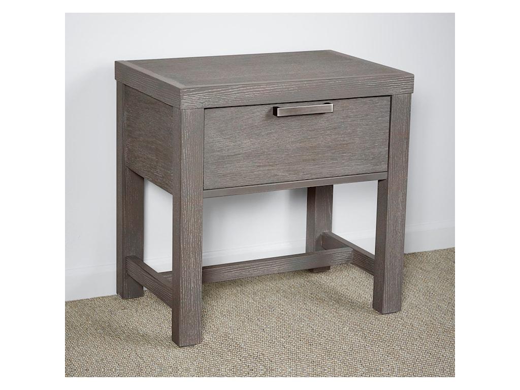 Vaughan Bassett American ModernBedside Table - 1 Drawer w/ USB Charging