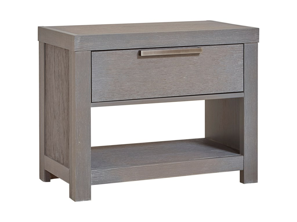Vaughan Bassett American ModernNight Table, 1 Drawer/1 Shelf & USB Charging