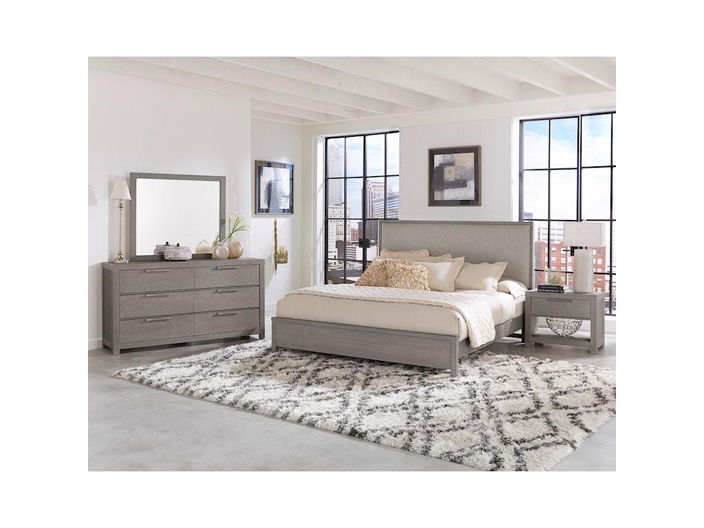 Vaughan Bassett American ModernKing Upholstered Bed