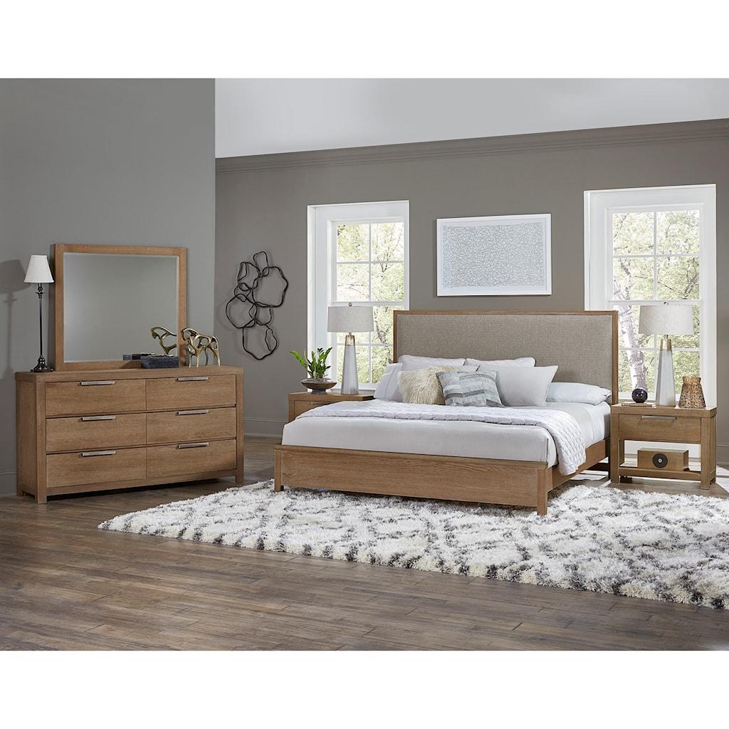American modern queen bedroom group by vaughan bassett