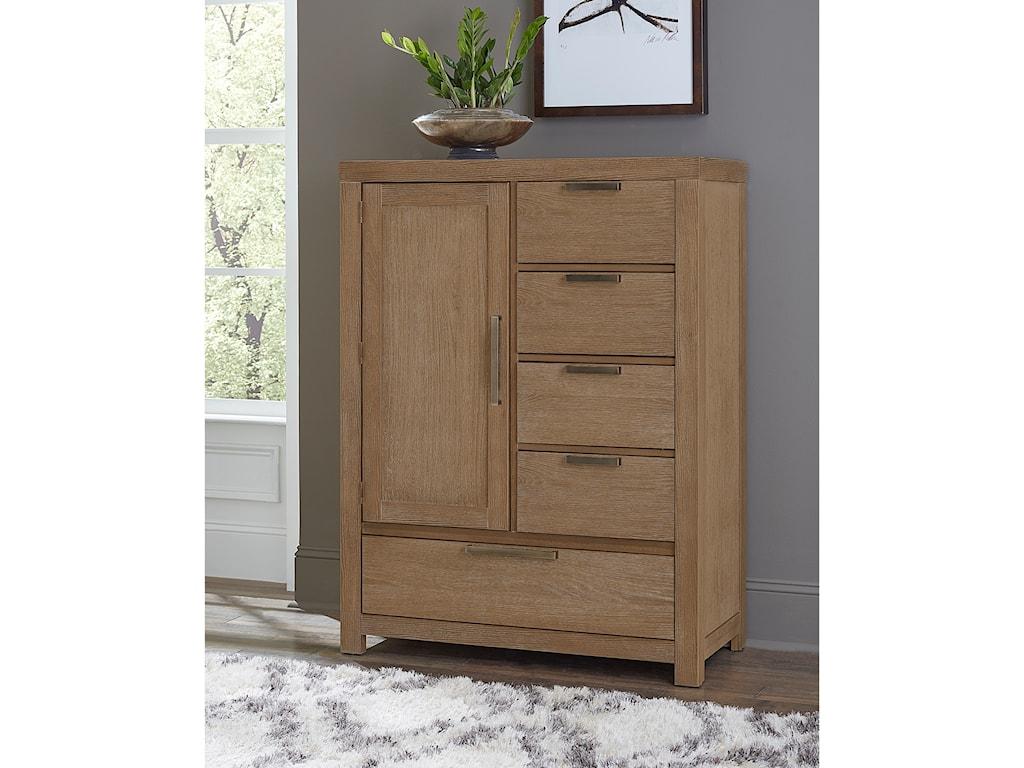 Vaughan Bassett American ModernArmoire - 1 door, 5 drawers