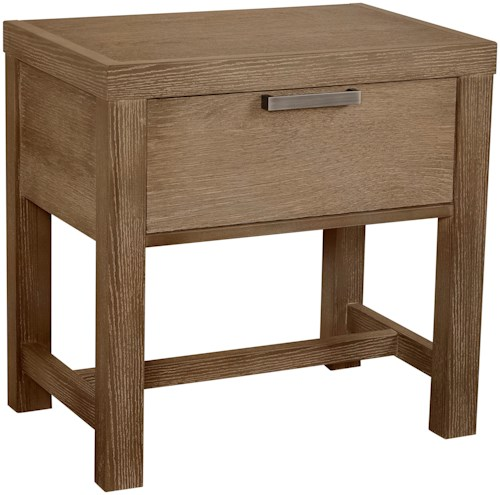 Vaughan Bassett American Modern Bedside Table - 1 Drawer w/ Dual USB Charging