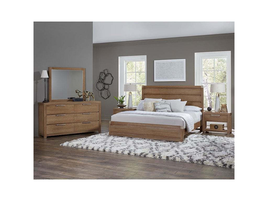 Vaughan Bassett American ModernKing Plank Bed