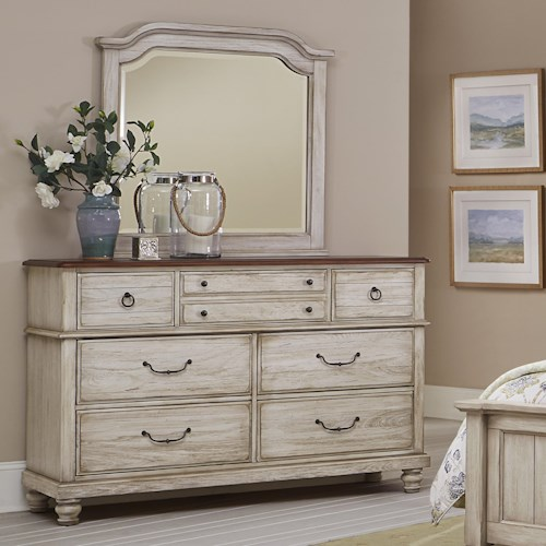 Vaughan Bassett Arrendelle Transitional Dresser & Mirror