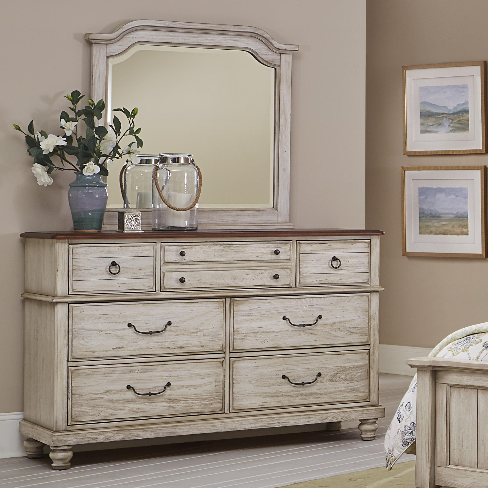 Vaughan Bassett Arrendelle Transitional Dresser U0026 Mirror