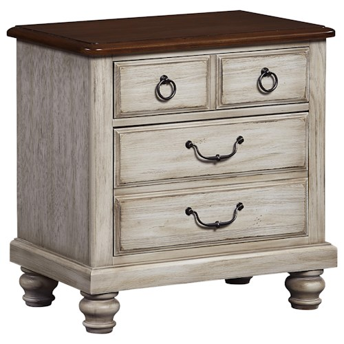 Vaughan Bassett Arrendelle Transitional Night Stand - 2 Drawers