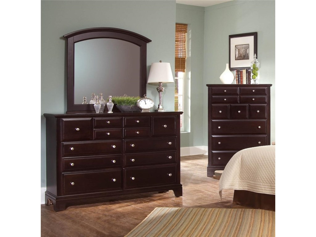 Dresser and Mirror Featured with Dresser Chest