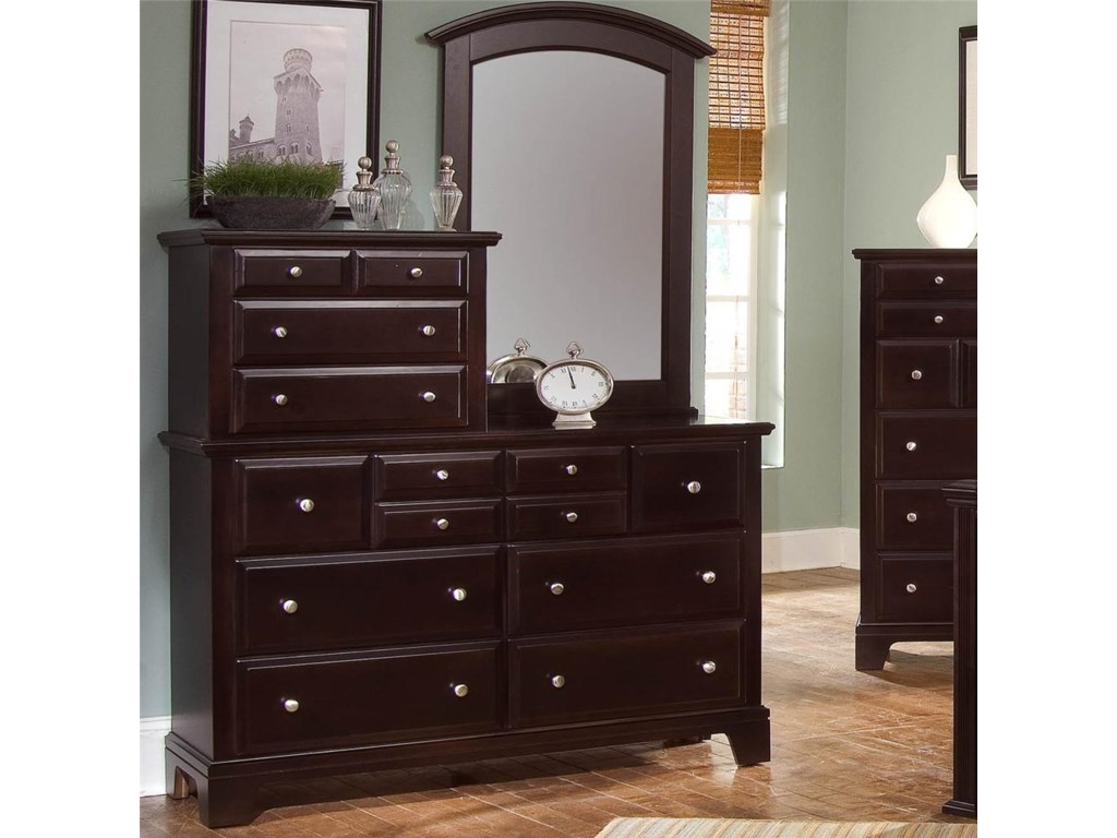 Vaughan Bassett Hamilton/FranklinVanity Dresser with Vanity Mirror