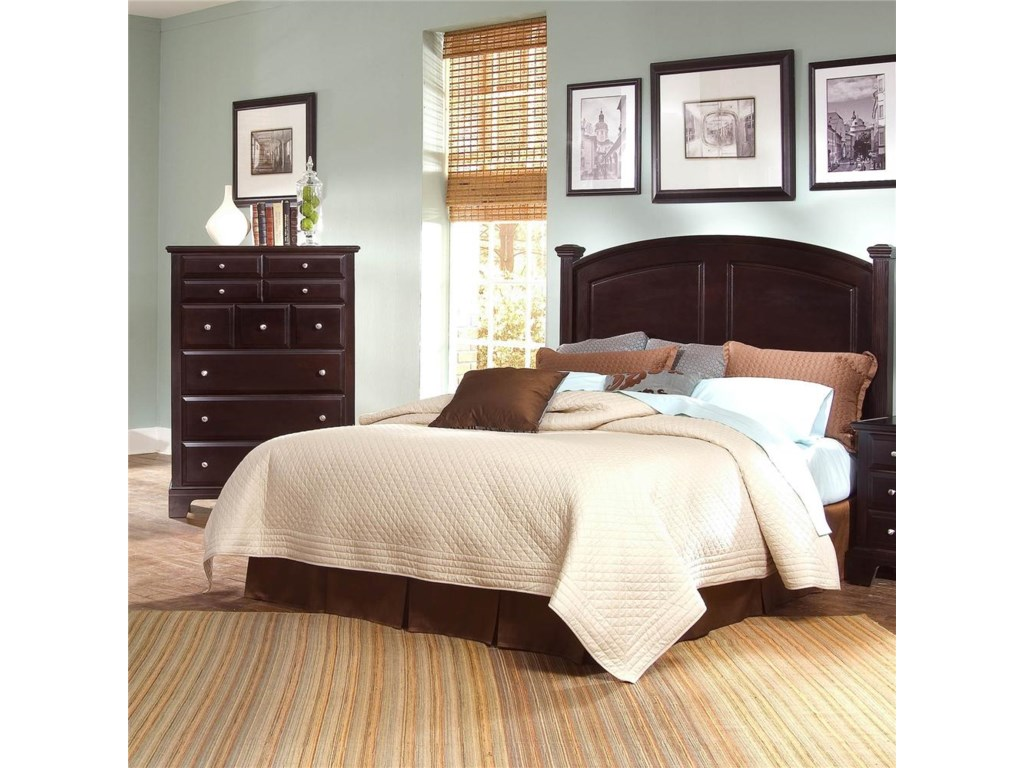 Dresser Chest Shown with Panel Bed