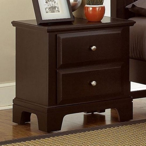 Vaughan Bassett Hamilton Night Stand with 2 Drawers