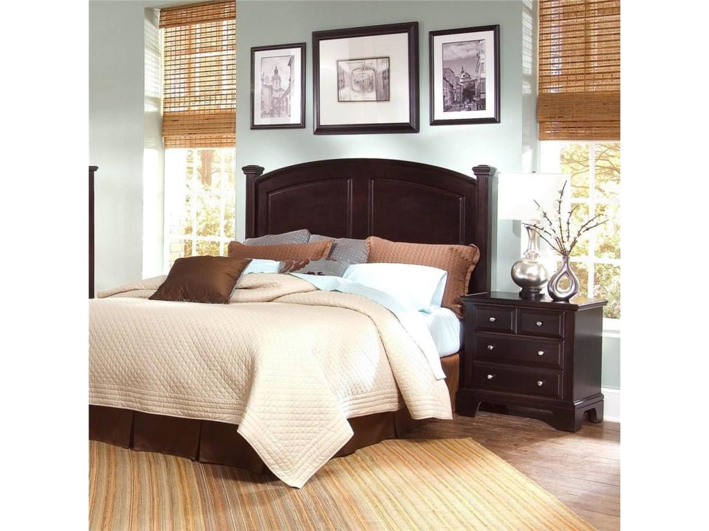 Nightstand Shown with Panel Bed