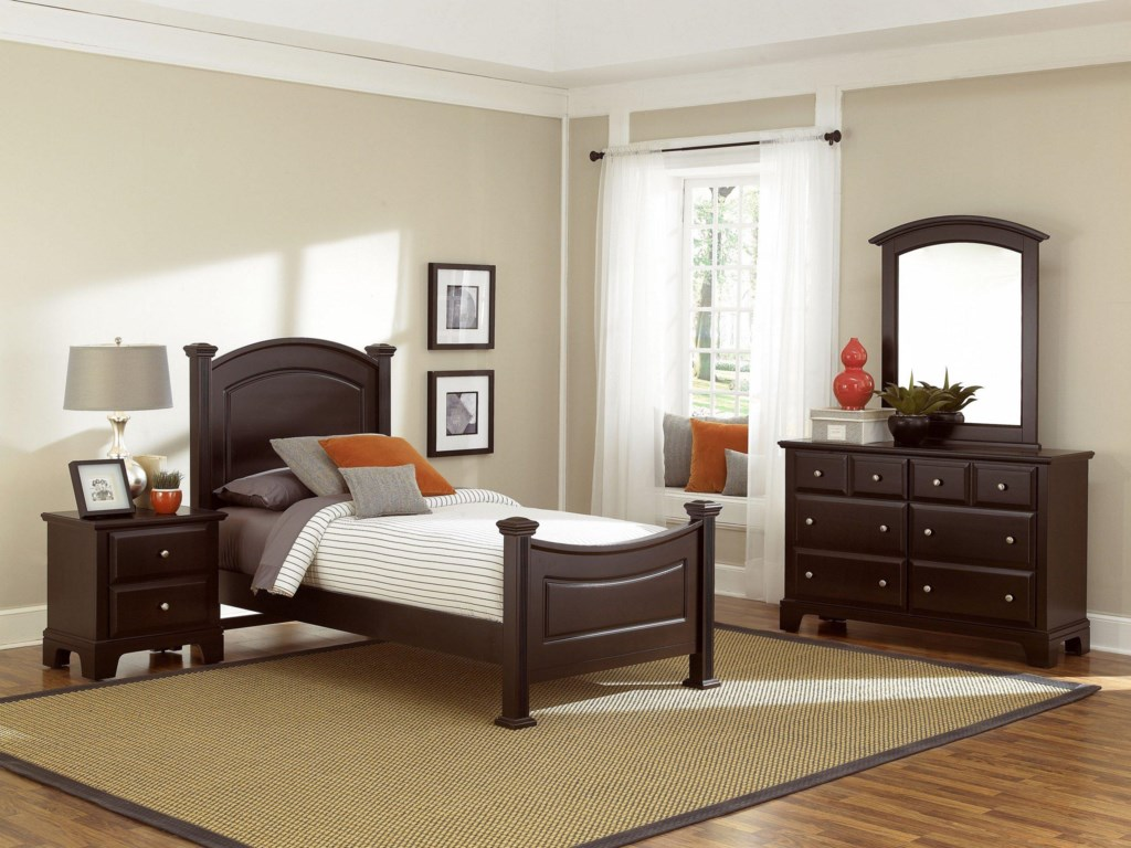 Shown with Night Stand, Dresser, and Mirror