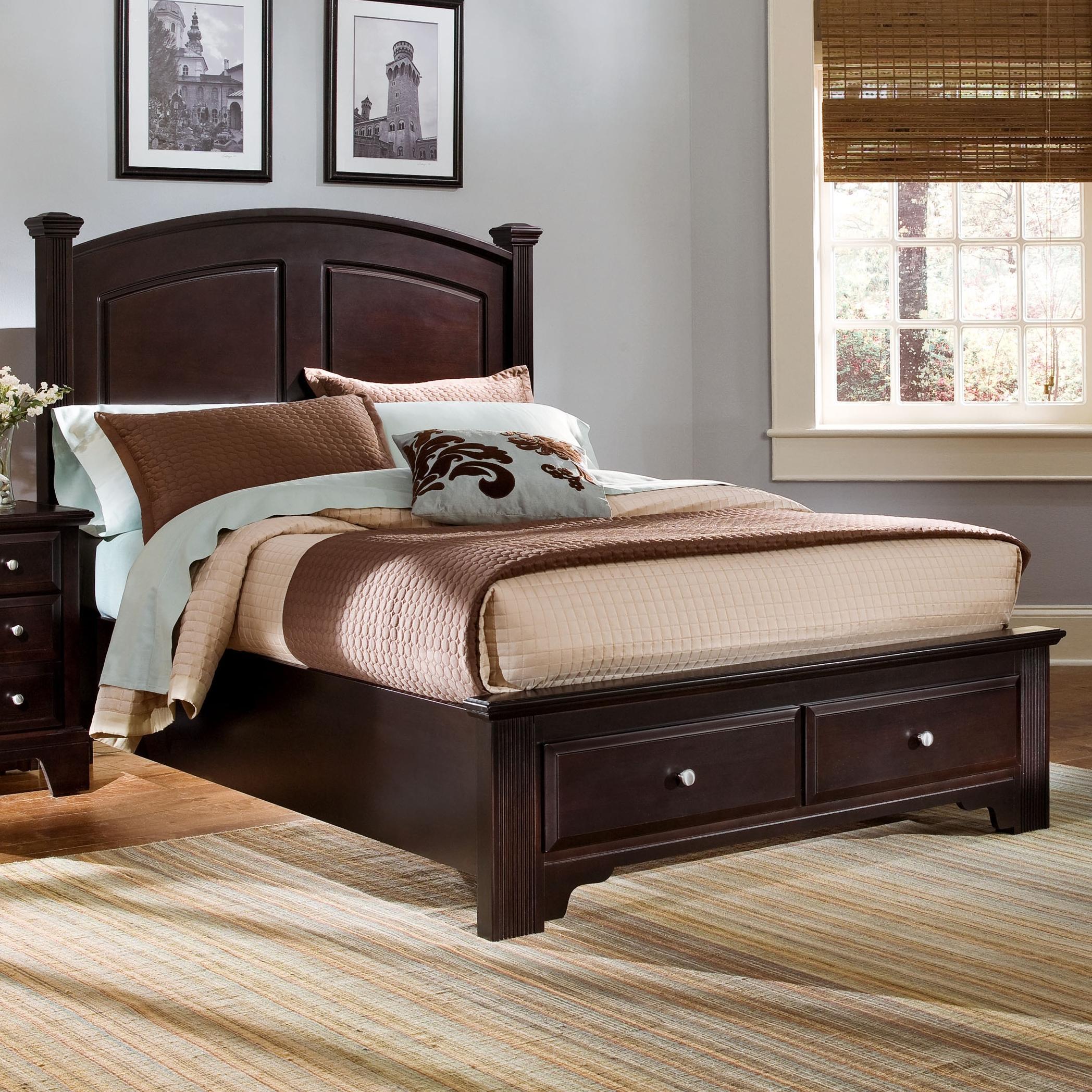 Vaughan Bassett Hamilton/Franklin Full Panel Storage Bed