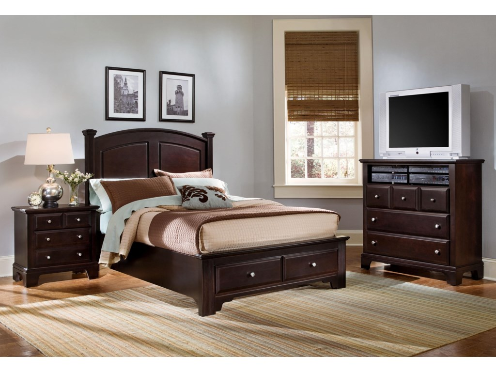 Vaughan Bassett Hamilton/FranklinQueen Panel Storage Bed