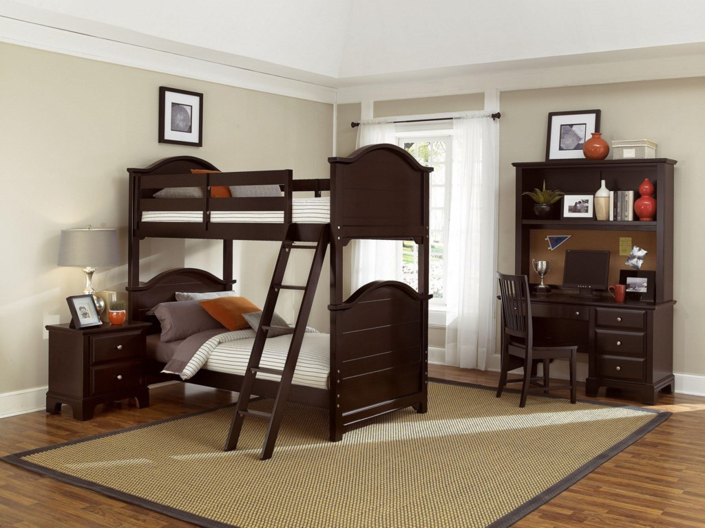 Shown with Night Stand, Bunk Bed, Desk and Hutch