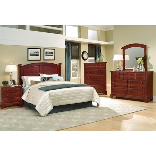 Vaughan Bassett Hamilton/Franklin King/California King Bedroom Group