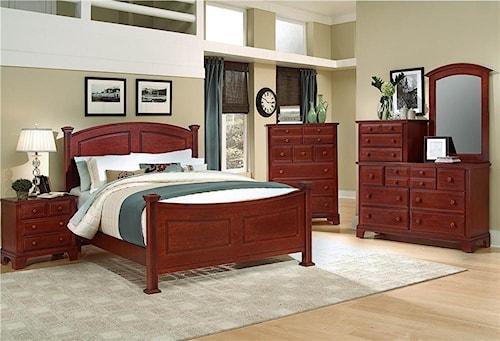 Vaughan Bassett Hamilton/Franklin Queen Bedroom Group