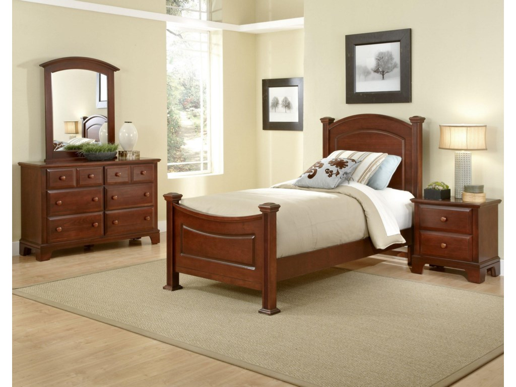 Vaughan Bassett Hamilton/FranklinTwin Panel Bed