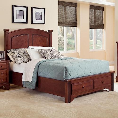 Vaughan Bassett Hamilton/Franklin King Panel Storage Bed