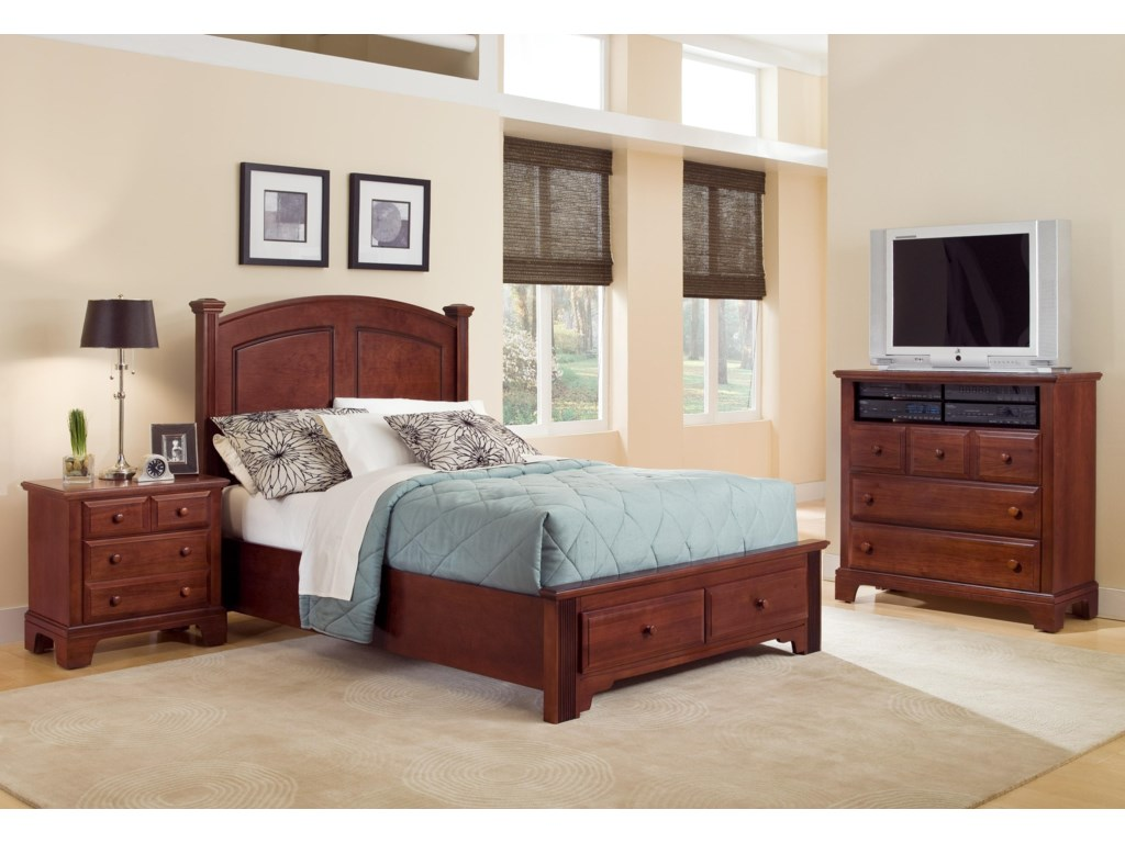 Vaughan Bassett Hamilton/FranklinFull Panel Storage Bed