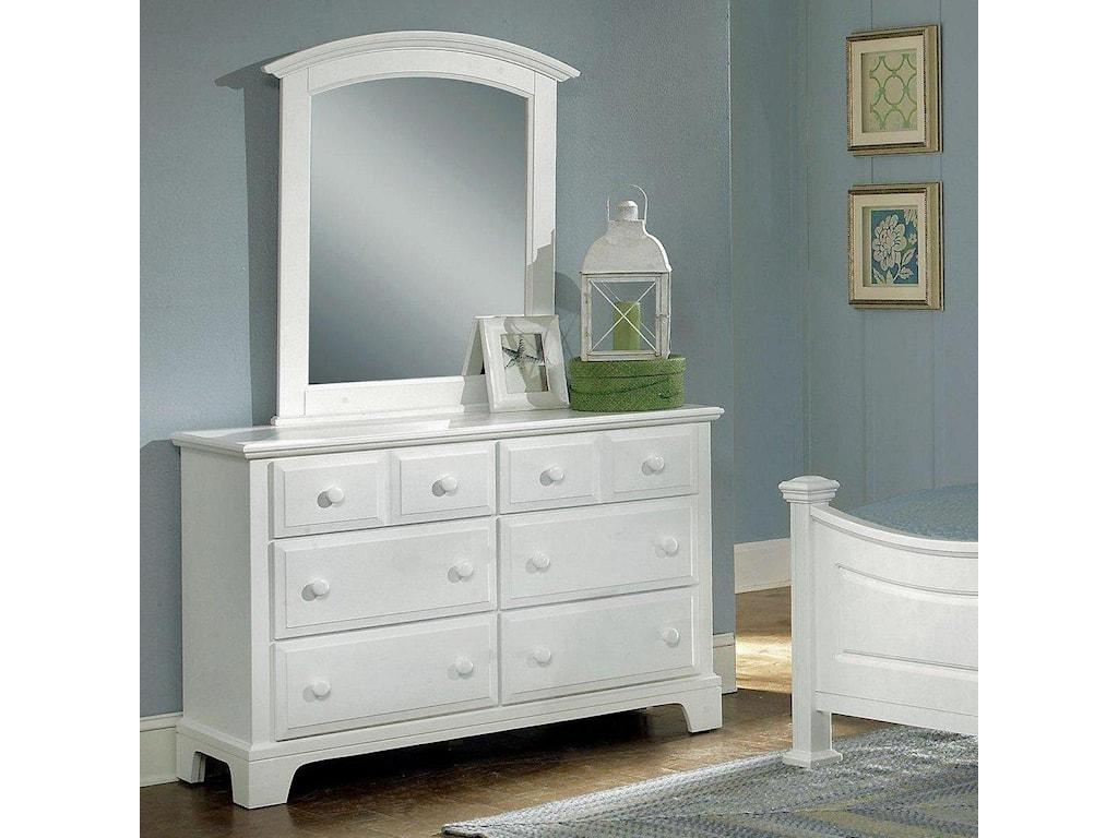 Vaughan Bassett Hamilton/FranklinDresser - 6 Drawers & Mirror