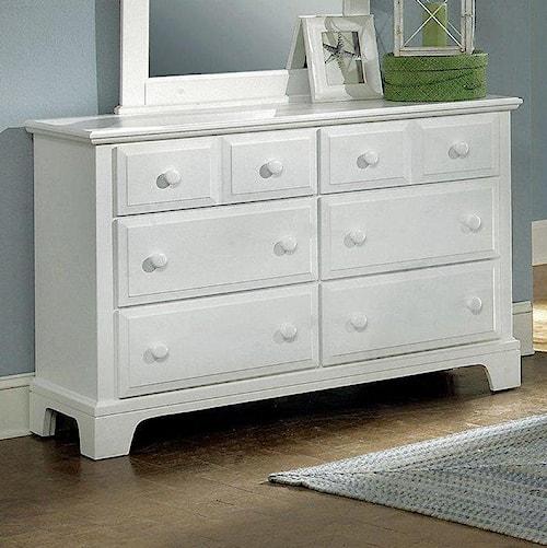 Vaughan Bassett Hamilton/Franklin Dresser - 6 Drawers