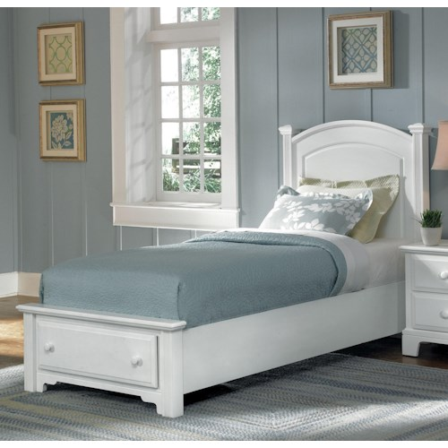 Vaughan Bassett Hamilton/Franklin Twin Panel Storage Bed