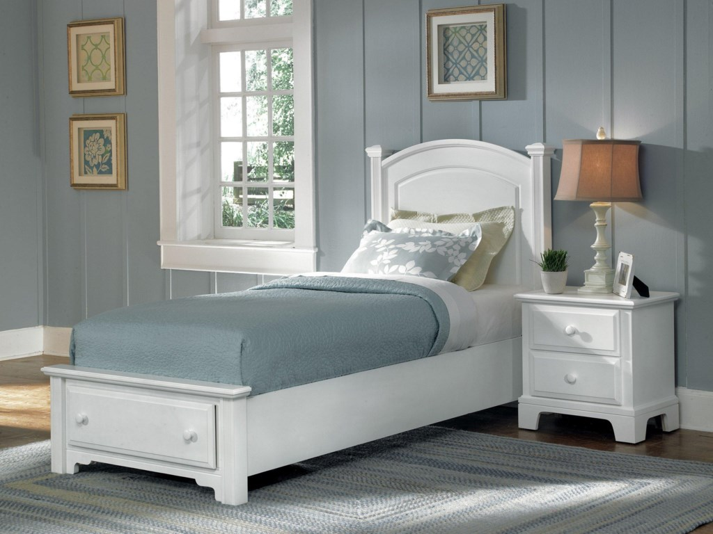 Vaughan Bassett Hamilton/FranklinTwin Panel Storage Bed