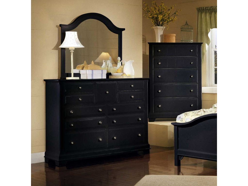 Shown with BB16-446 Landscape Dresser Mirror and BB16-115 Chest of Drawers