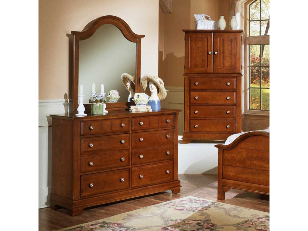 Shown with BB19-442 Vertical Dresser Mirror and BB19-116 Vanity Chest / Entertainment Center