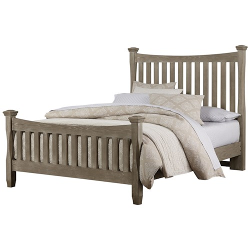Vaughan Bassett Bedford King Poster Bed with Slat Headboard & Footboard