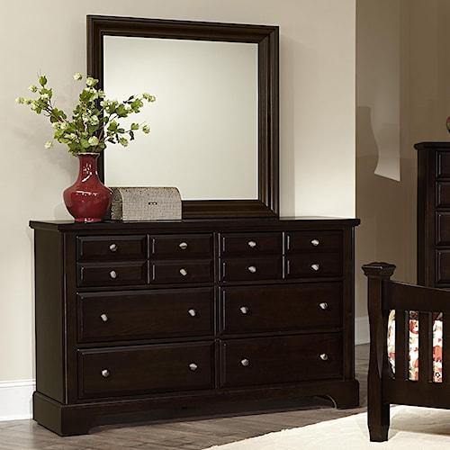 Vaughan Bassett Bedford Dresser - 6 drawers & Landscape Mirror