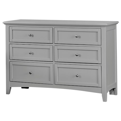 Vaughan Bassett Bonanza Casual Double Dresser - 6 Drawers