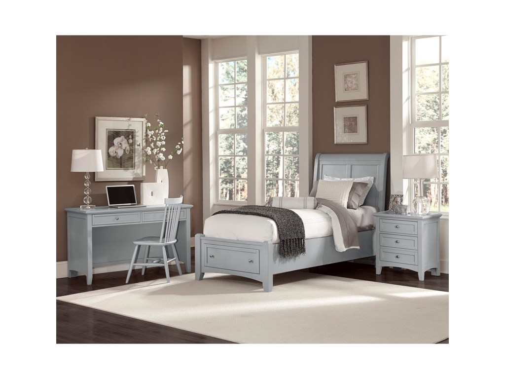 Vaughan Bassett BonanzaTwin Sleigh Storage Bed