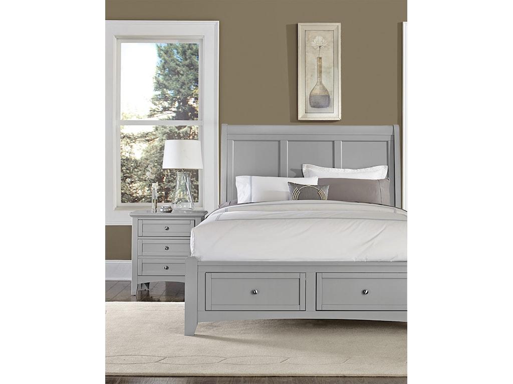 Vaughan Bassett BonanzaQueen Sleigh Storage Bed