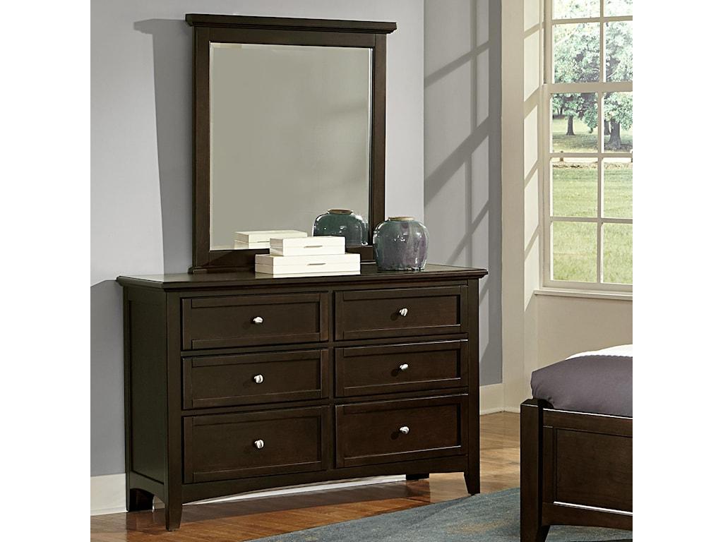 Vaughan Bassett BunkhouseDouble Dresser & Small Landscape Mirror