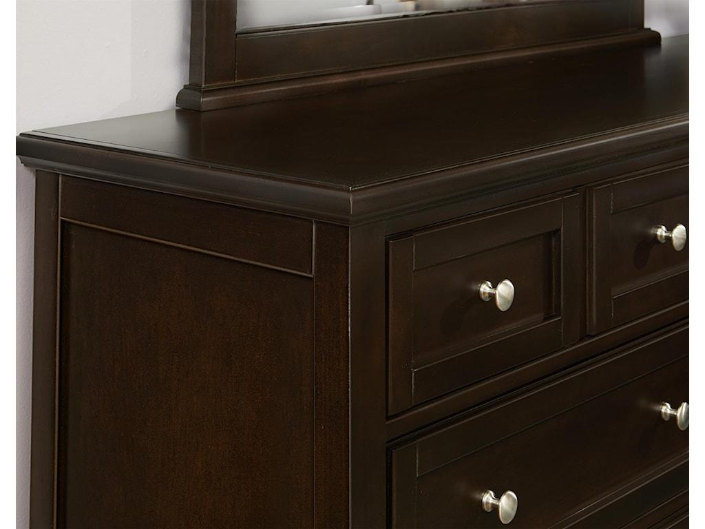 Vaughan Bassett BonanzaTriple Dresser & Landscape Mirror