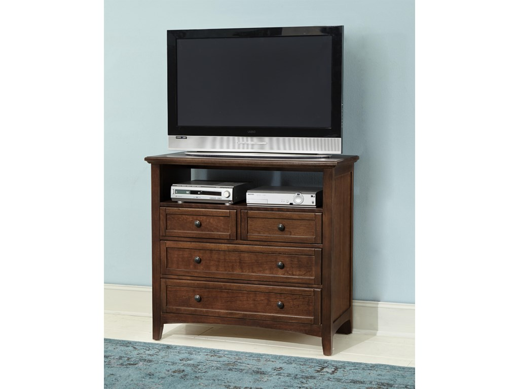 Vaughan Bassett BonanzaMedia Unit - 4 Drawers